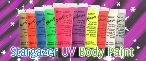 Stargazer UV Reactive Body Paint