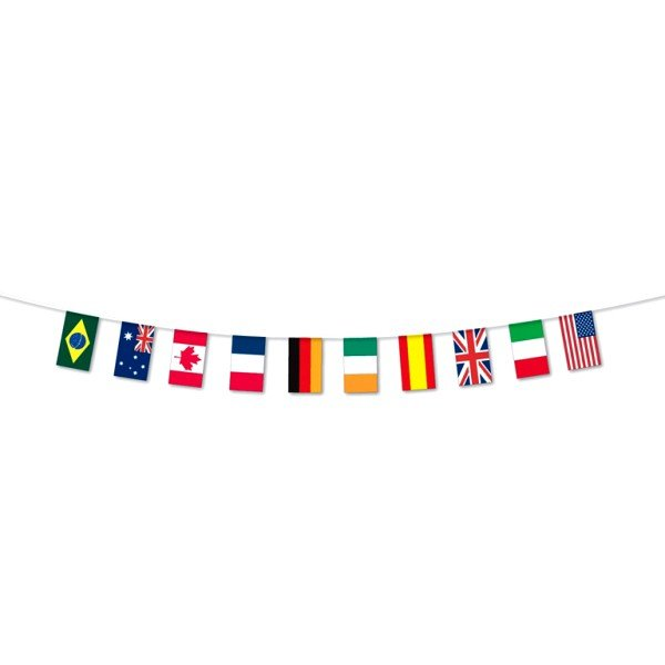 10 Countries Flag Bunting (20M)