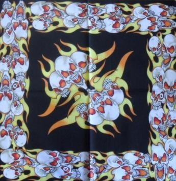Skull Pattern Design 13 Bandana Head Scarf