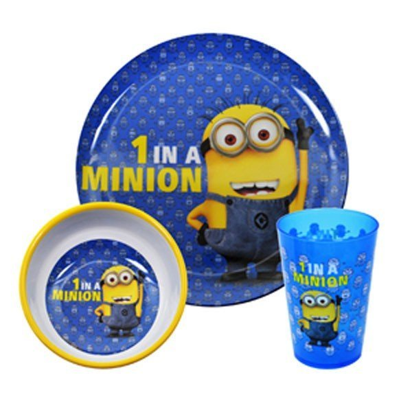 1 In A Minion 3PC Dinner Set
