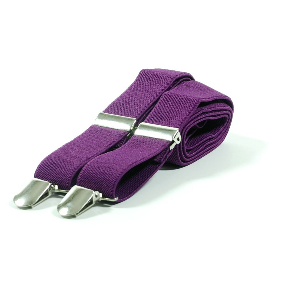 Unisex Plain Purple 25mm Fashion Braces