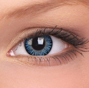 3 Tones Blue Blends Coloured Contact Lenses (90 Day)