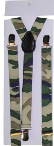 Unisex Printed Camouflage Fashion Braces