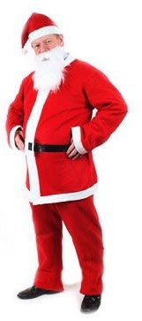 5 Piece Father Christmas Outfit