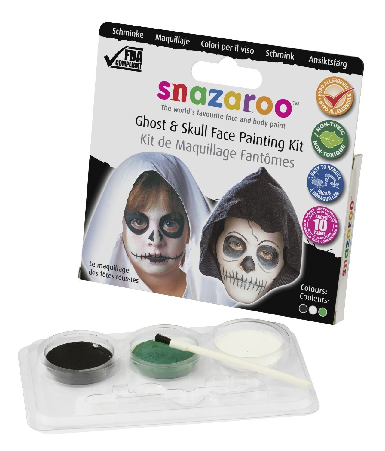 Snazaroo Face Paint Theme Pack - Ghost and Skull