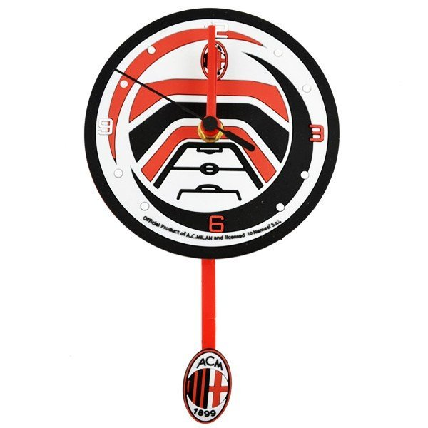 AC Milan PVC Wall Clock with Pendulum