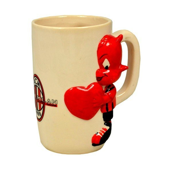 AC Milan Sculptured Mug - Heart
