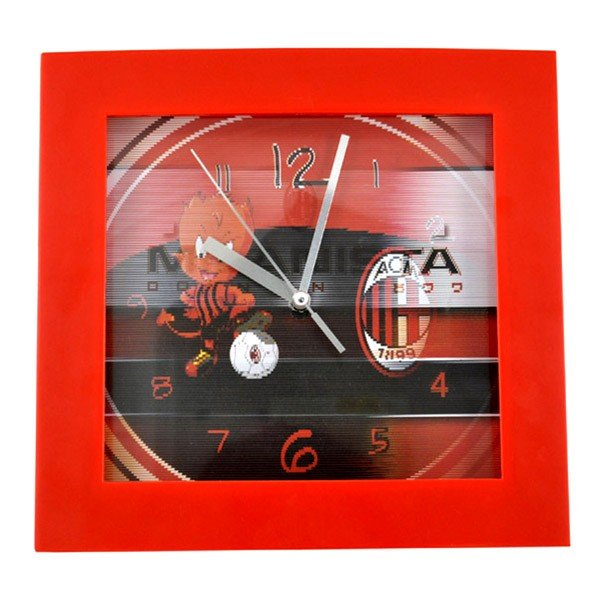 AC Milan Square Wall Clock - Crest