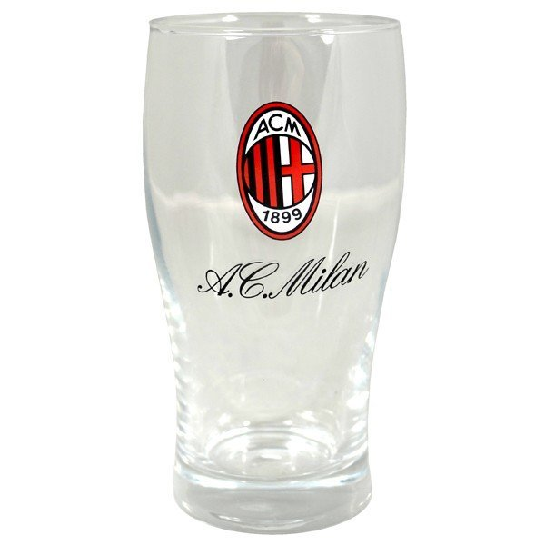 AC Milan Wordmark Crest Pint Glass