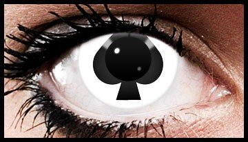 Ace Of Spades Crazy Coloured Contact Lenses (90 days)
