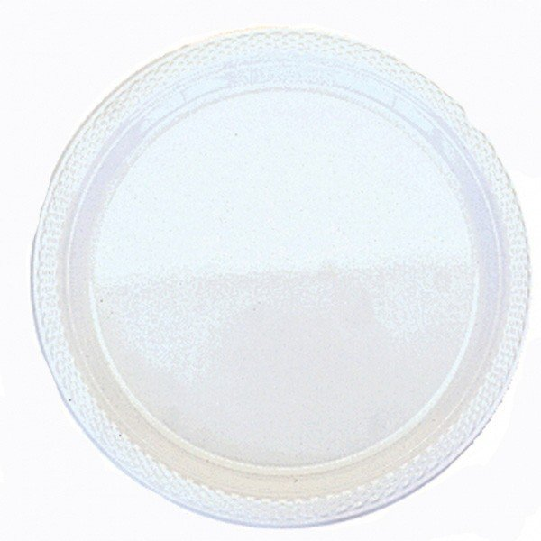 Amscan 17.7cm Plastic Plates - Frosty White