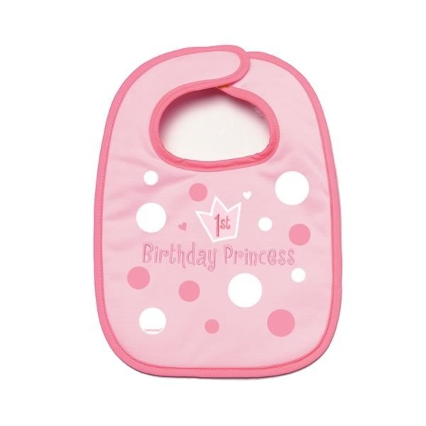 Amscan 1st Birthday Bib - Girl