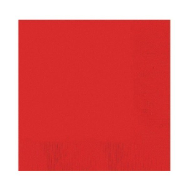 Amscan 2 Ply Lunch Napkins - Apple Red