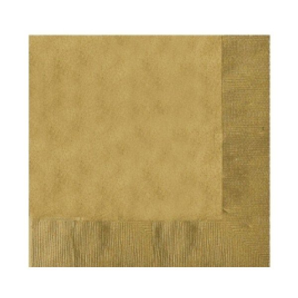Amscan 2 Ply Lunch Napkins - Gold