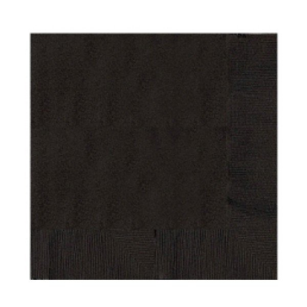 Amscan 2 Ply Lunch Napkins - Jet Black