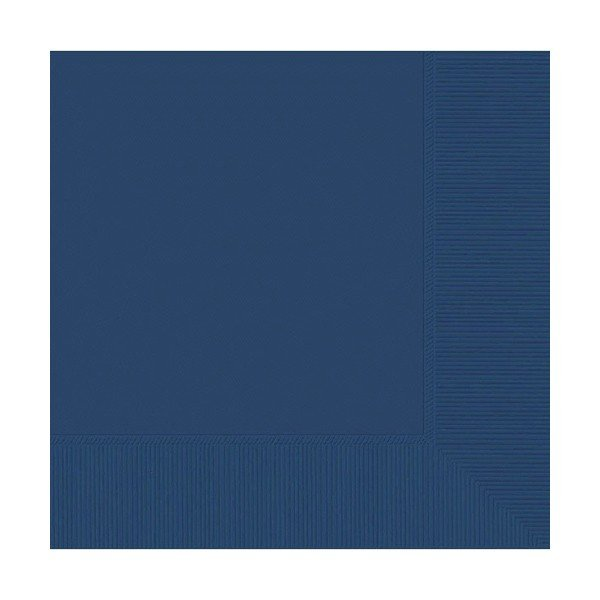 Amscan 2 Ply Lunch Napkins - Navy Flag Blue