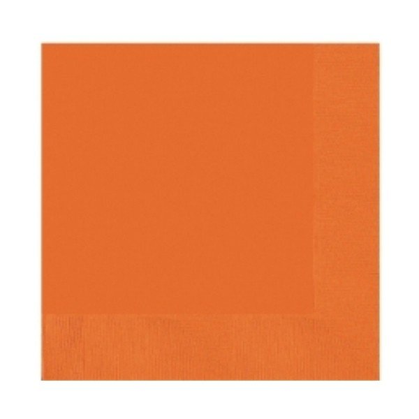 Amscan 2 Ply Lunch Napkins - Orange Peel