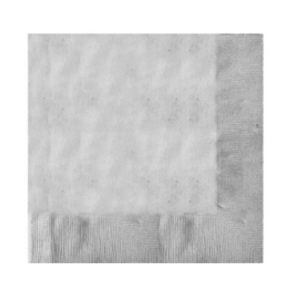 Amscan 2 Ply Lunch Napkins - Silver
