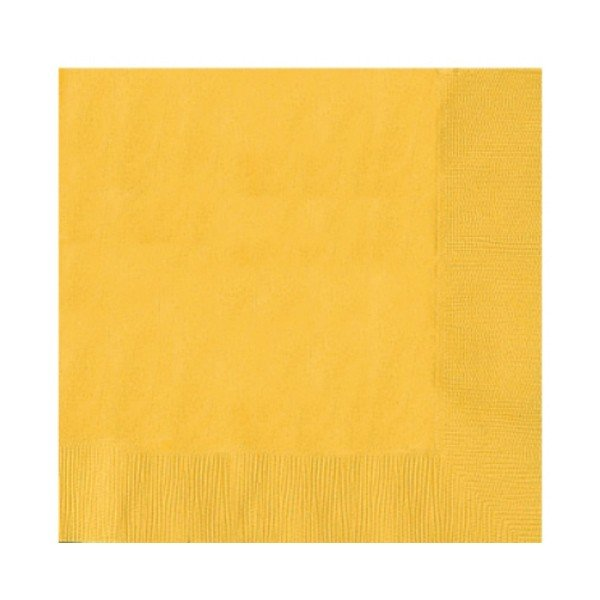 Amscan 2 Ply Lunch Napkins - Sunshine Yellow
