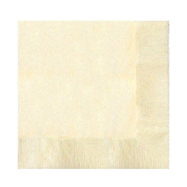 Amscan 2 Ply Lunch Napkins - Vanilla Creme