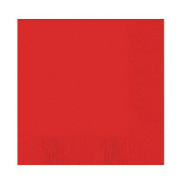 Amscan Beverage Napkins - Apple Red