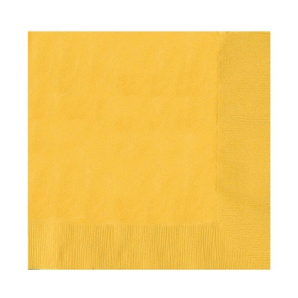 Amscan Beverage Napkins - Sunshine Yellow