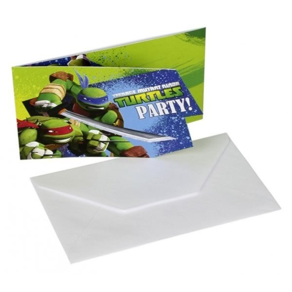 Amscan Card Invites - TMNT
