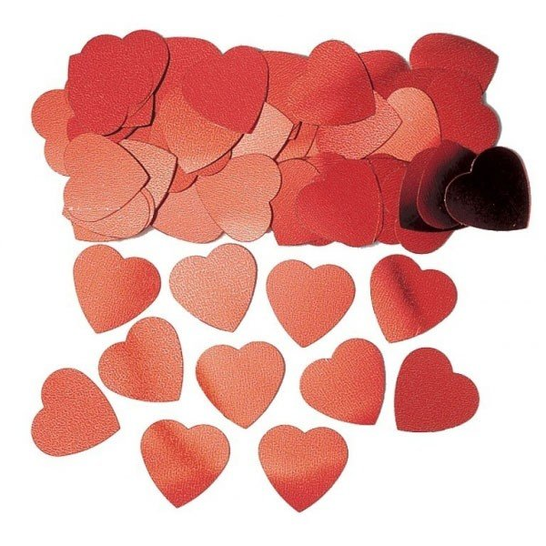 Amscan Confetti - Jumbo Red Hearts