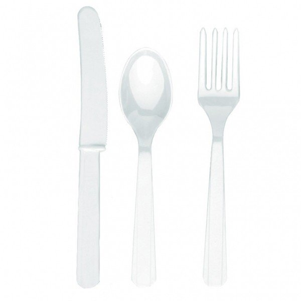 Amscan Cutlery Assortment - Frosty White