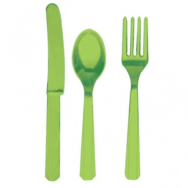 Amscan Cutlery Assortment - Kiwi Green