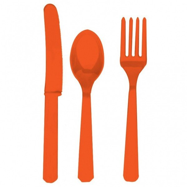 Amscan Cutlery Assortment - Orange Peel