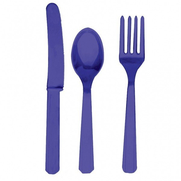 Amscan Cutlery Assortment - Purple