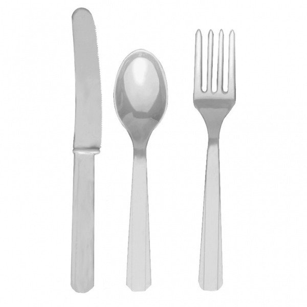 Amscan Cutlery Assortment - Silver