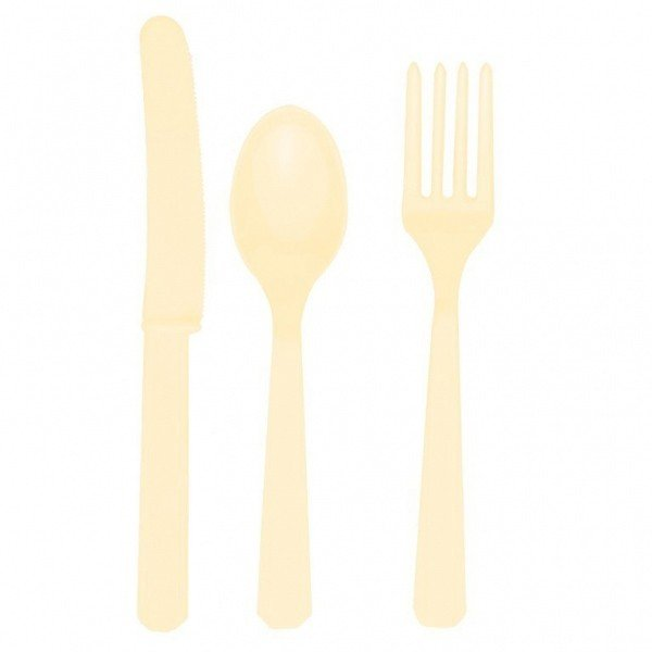 Amscan Cutlery Assortment - Vanilla Creme