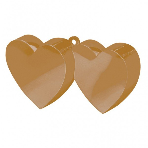 Amscan Double Heart Balloon Weight - Gold