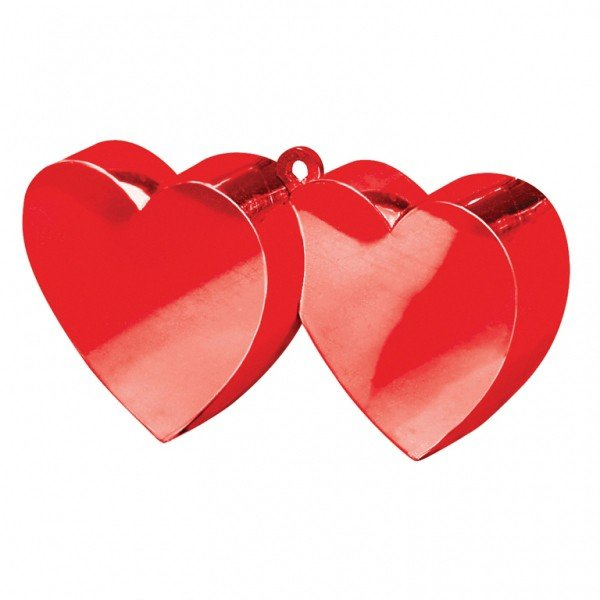 Amscan Double Heart Balloon Weight - Red