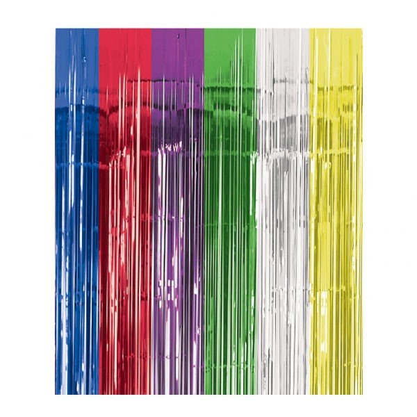 Amscan Foil Door Curtain - Multicoloured