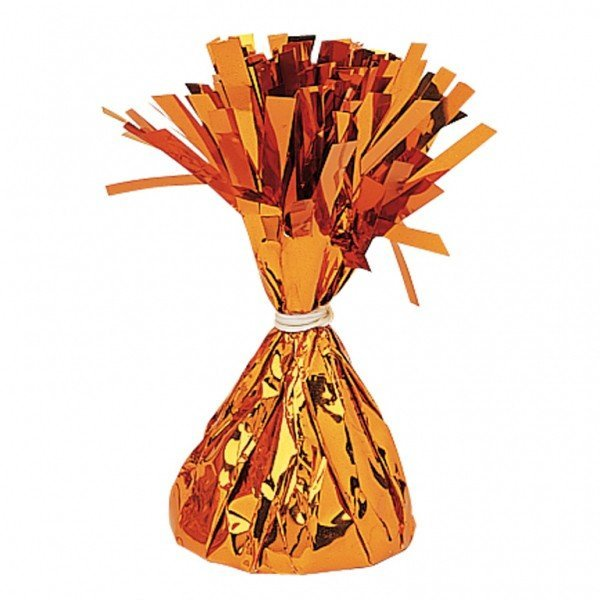 Amscan Foil Tassels Balloon Weight - Orange