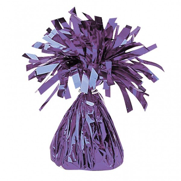 Amscan Foil Tassels Balloon Weight - Purple