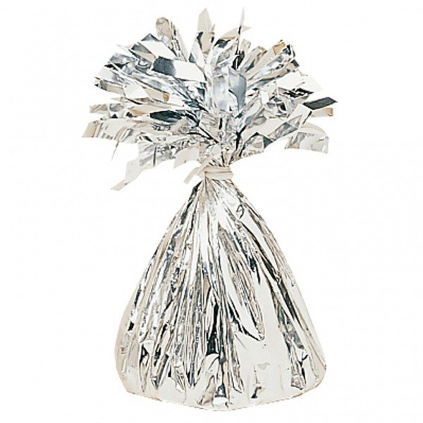 Amscan Foil Tassels Balloon Weight - Silver