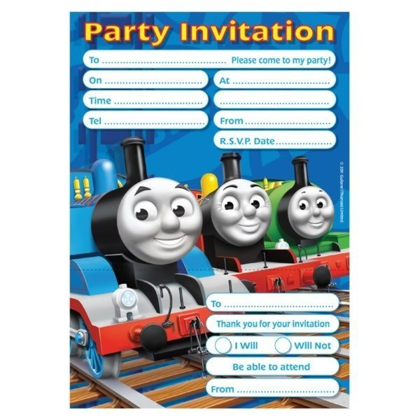 Amscan Invites & Envelopes - Thomas & Friends
