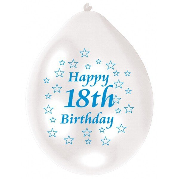 Amscan Minipax Balloon Pack - 18th Birthday Blue/White