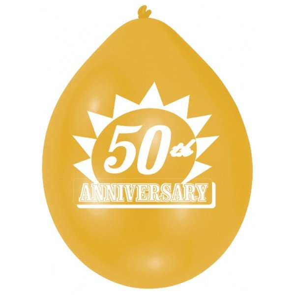 Amscan Minipax Balloon Pack - Golden Anniversary