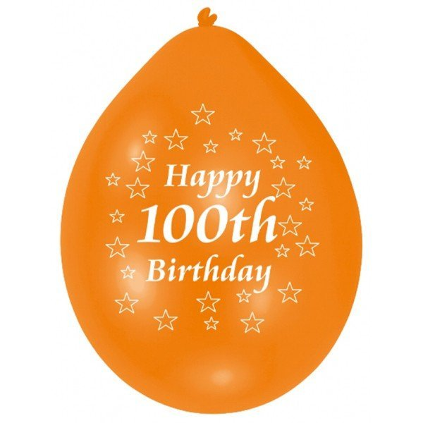 Amscan Minipax Balloon Pack - Happy 100th Birthday