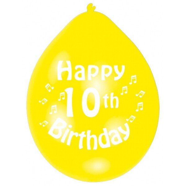 Amscan Minipax Balloon Pack - Happy 10th Birthday