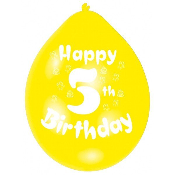 Amscan Minipax Balloon Pack - Happy 5th Birthday