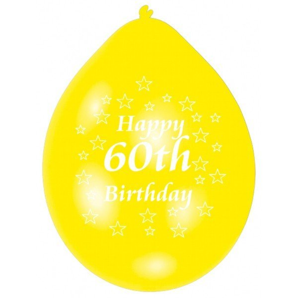 Amscan Minipax Balloon Pack - Happy 60th Birthday