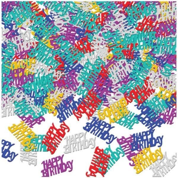 Amscan Multicoloured Confetti - Happy Birthday