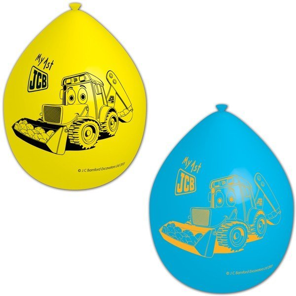 Amscan My 1st JCB Latex Balloons - Assorted