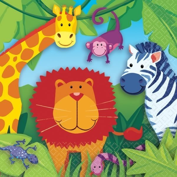 Amscan Napkins - Jungle Animals